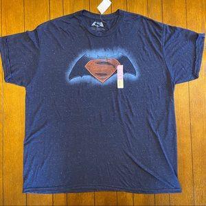 Batman vs. Superman Navy Blue T-Shirt 2XL NWT